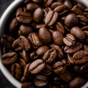 A bowl of coffee beans taken by a rutland food photographer